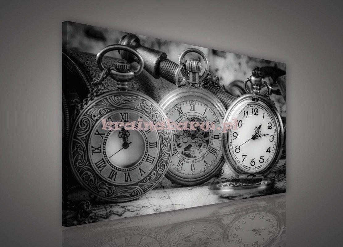 Obraz Na Płótnie Pp615o1 Czarno Biały Zegarek Consalnet Sklep