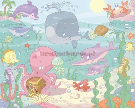 Fototapeta 3D 037 Baby Under the Sea