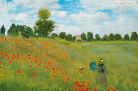 Plakat 00677 Pole Maków by Claude Monet